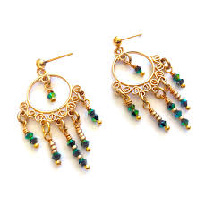 and they re getting into the holiday spirit with these lovely fiesta earrings using the new chandelier findings and sparkly swarovski crystal bicones