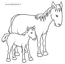 Infanziaweb Con Disegni Di Pecore Da Stampare E Colorare E Cavalli 0