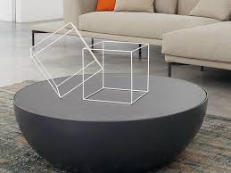upholstered round ottoman coffee table for living room centerpiece