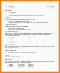 Babysitting Resume Templates Babysitting Resume Example Examples