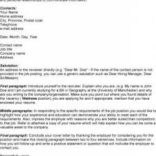 cover letter examples for waitress cover letter splendid waitress cover letter example job application cover waitress application