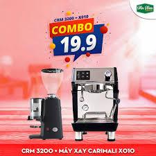 Combo máy pha cà phê CRM 3200 + Máy Xay Carimali X010