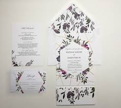 Sample Of Weeding Invitation Muted Floral Wedding Invitation Sample