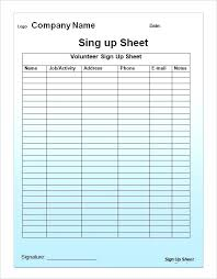 Google Sign In Sheet Name Sign Template Printable Sign Up Sheet Template Sign In Sheet