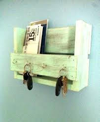 key and mail holder for wall key organizer wall rustic key holder mail organizer aqua key