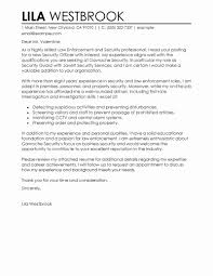 Mann Security Officer Cover Letter Inspirational Law Enforcement
