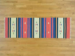 2 6 x8 navajo design runner flat weave kilim hand woven rug r26156
