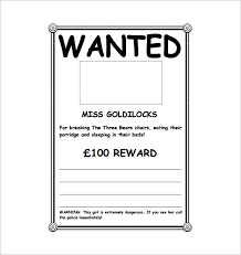 Wanted Poster Template Downloa