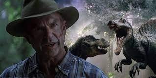 2021 - Jurassic Park 3 schneidet eine fantastische Szene, in der ein Raptor  ein Dirt Bike fuhr - Gettotext.com