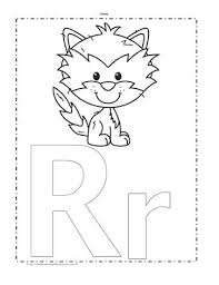 The Letter R Coloring Page Worksheets The Letter R Coloring Page