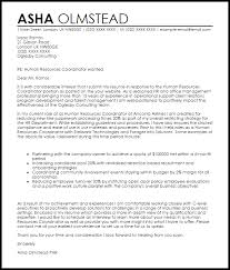 human resources coordinator cover letter sample sample hr cover letters