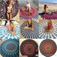 indian mandala beach towel round beach blanket polyester elephant printing tapestry yoga mat summer picnic rug 18 designs bath towles towels bath from