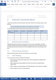 Communication Plan Template Ms Word Excel Templates Forms