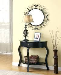 half wall table amazing black console table design featuring laminate wooden floor and black wooden half half wall table