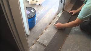 trick flat hardwood floor transition installation between room and walk in closet diy you