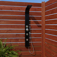 denton two jet outdoor shower panel with hand shower