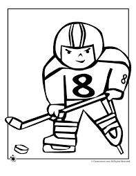 Hockey Kid Coloring Page Woo Jr Kids Activities