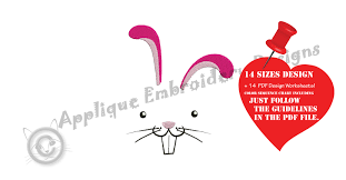 Bunny Face Embroidery Design Bunny Face Embroidery Design Easter Bunny Embroidery Rabbit Face My First Birthday Machine Embroidery Patterns Instant Download Pes