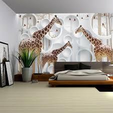Custom Photo Giraffe Children Room Wallpaper Large Mural Bedroom Porch  Backdrop Wall Wallpaper Mural