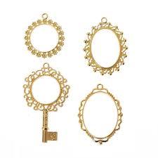 details about 4pcs key open bezel blank frame pendants for uv resin crafts diy jewelry making