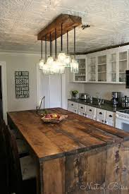 pictures of kitchen lighting ideas. Love This Kitchen! Especially The Light And Island. Mason Ball Jar Rustic Island MY IDEAS: Extend Top Around To Sink? Pictures Of Kitchen Lighting Ideas L