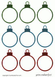 Gift Tag Coloring Page Christmas Ornament Gift Tags Coloring Page Print Color Fun