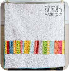 Fun and bright. Scrappy Stripes Quilt back by Susan Weinroth ... & Scrappy Stripes Quilt back by Susan Weinroth, featured on her blog Adamdwight.com