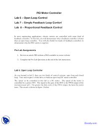 Embedded Systems Design Notes Motor Controller Embedded System Design Lab Notes Docsity