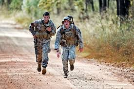 u s department of defense photo essay army spc anthony hall left and army sgt matthew sheperd run to