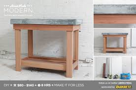homemade modern diy ep38 wood concrete kitchen island postcard