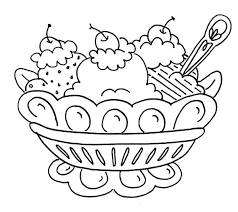 Small Picture Ice Cream Banana Split and Ice Cream Coloring Pages Banana Split