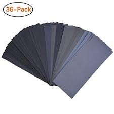 400 To 3000 Assorted Grit Sandpaper For Wood Furniture Finishing Metal Sanding And Automotive Polishing Dry Or Wet Sanding 9 X 3 6 Inch 36 Sheet