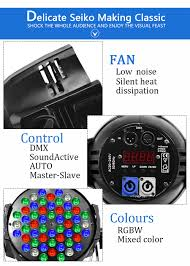 Bp Sound And Lighting Us 390 0 High Power Wash Light 54x3w Led Par Rgbw Dmx Strobe Sound Activated Professional Stage Lighting Effect 6pieces Lot In Stage Lighting