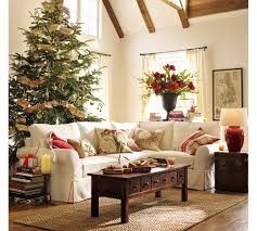 Beautiful Pottery Barn Christmas Designs Ideas : Pottery Barn Christmas  Design With White Sofa