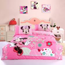 Mickey And Minnie Mouse Bedroom Decor Cute Minnie Mouse Bedding Set Pink Grandkids Pinterest Mice