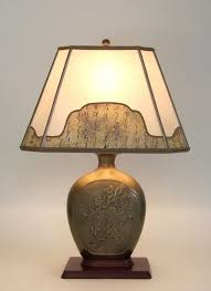 amt06 antique brass table lamp with gs and leaves parchment paper lampshade with decorative border