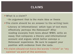 argument writing iuml iexcl what is a claim iuml sect an argument that is the what is a claim