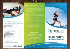 Physiotherapy Leaflet Design Professional Serious Clinic Brochure Design For A Company