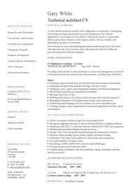 Technical architect CV sample, work experience, key skills and  competencies, technology jobs, CVs