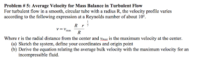 average velocity for mass balance in turbulent flo