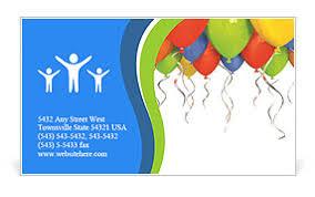 Birthday Business Cards Birthday Balloon Business Card Template Design Id 0000006533