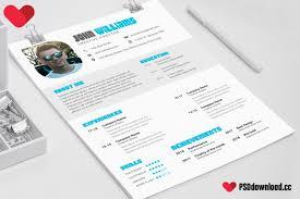 Get Cv Psd Free Resume Psd Template Freedownloadpsd Com