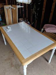 Out Of The Ashes A Tale Of How A Tile Top Kitchen Table And Benches