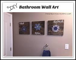 diy bathroom wall art string art to add a pop of color , bathroom ideas,
