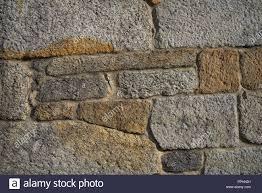 Granite Stone Bush Hammered Masonry Wall In Galicia Spain