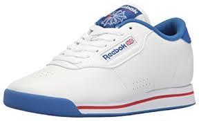 reebok princess. reebok women\u0027s princess fitness lace-up fashion sneaker,white/tetra blue/excellent k