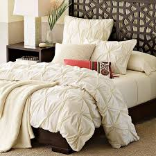west elm organic cotton pin tuck duvet