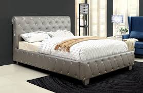 acrylic bedroom furniture. Amazon.com: Furniture Of America Chloe Acrylic Tufted Leatherette Platform Bed With Bluetooth Speakers, Queen, Silver: Kitchen \u0026 Dining Bedroom R