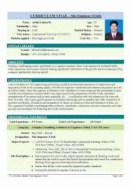 Civil Engineer Resume Format Free Download Resume format Civil Engineer Beautiful Cv format for Civil 1