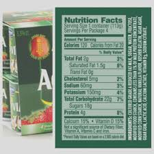 Activia Light Sugar Content Activia Vanilla Yogurt Calories